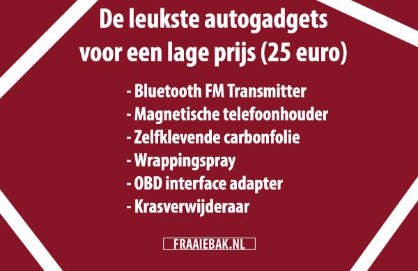 De leukste autogadgets of autoaccessoires voor onder 25 euro (ook leuk om cadeau te doen)