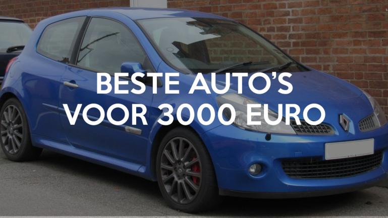 beste goedkope auto's voor 3000 euro